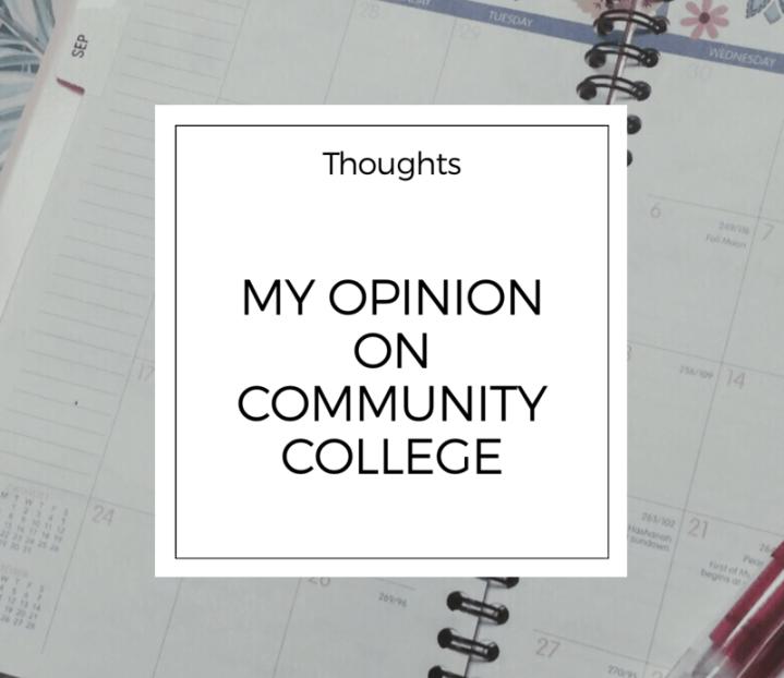 My Opinion on CommunityCollege